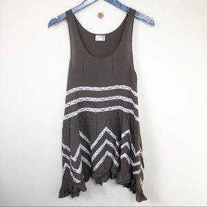 Free People Polka Dot & Lace Ruffle Dress